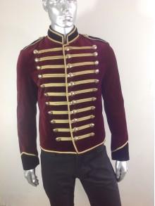 veste royal velour bordeaux/noir